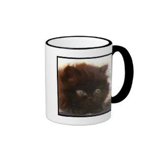 Black Persian Kitten mug
