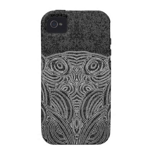 Black person and abstract white vibe iPhone 4 case