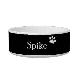 Black  | Personalized Cat Dish