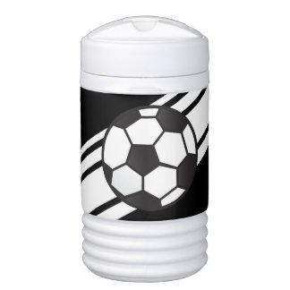 Black Personalized Soccer Igloo Beverage Cooler