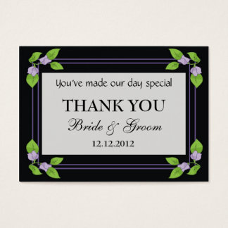 Black Personalized Wedding Favor Gift Tags