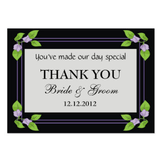 Black Personalized Wedding Favor Gift Tags Business Card