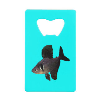 Black Phantom Tetra Credit Card Bottle Opener