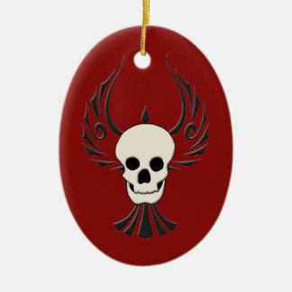 Black Phoenix Oval Ornament
