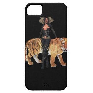 Black phone case with Tiger