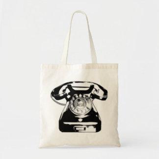Black Phone Tote Bag