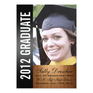Black Photo 2012 Graduate Card