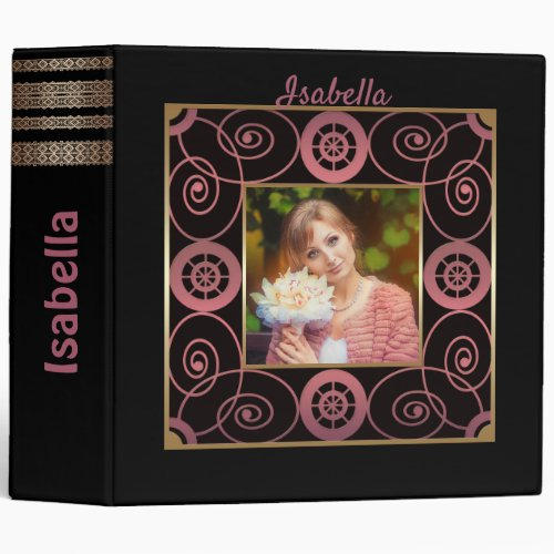 Black photo album created for you 3 ring binder