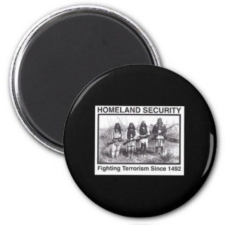 Black Photo Indian Homeland Security 2 Inch Round Magnet