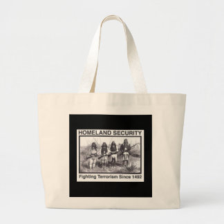Black Photo Indian Homeland Security Canvas Bag