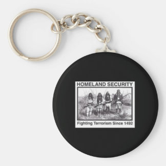 Black Photo Indian Homeland Security Key Chain