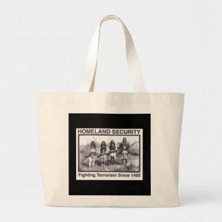 Black Photo Indian Homeland Security Large Tote Bag