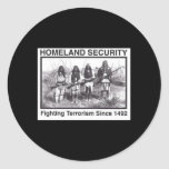 Black Photo Indian Homeland Security Classic Round Sticker