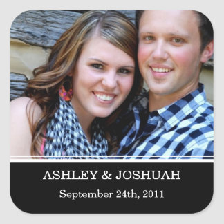 Black Photo Save The Date Stickers