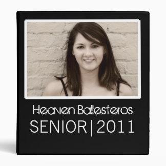 Black Photo Template Design Senior 2011 Binder