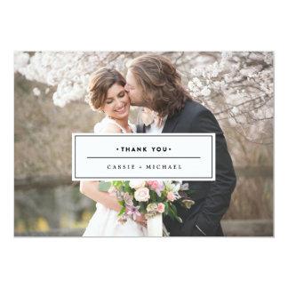 BLACK PHOTO THANK YOU CARD wedding thank you card