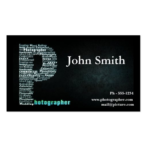 Black Photographer business card