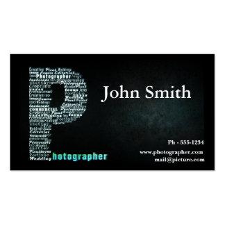 Black Photographer business card