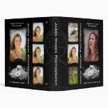 """Black Photography 1"""" Portfolio - Grunge Binder"""