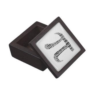 Black Pi Typed Text Symbol   Geek Gift Box