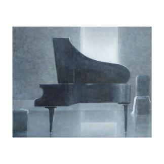 Black piano 2004 canvas print
