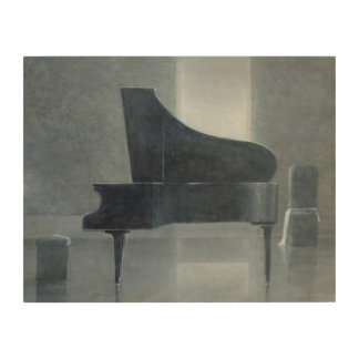 Black piano 2004 wood wall art