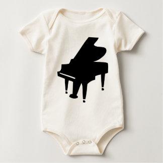 black piano baby bodysuit