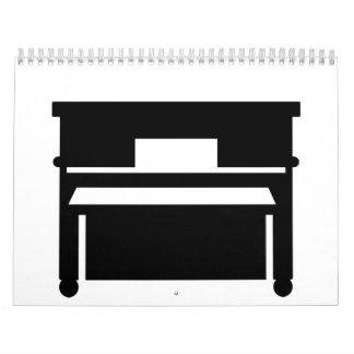 Black piano calendar