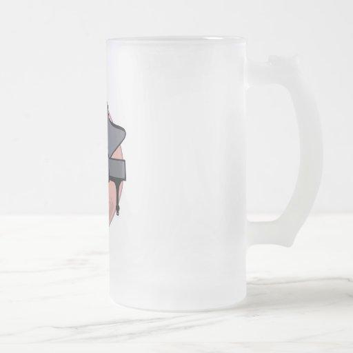 black piano mug