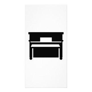 Black piano photo card