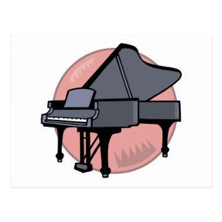 black piano postcard