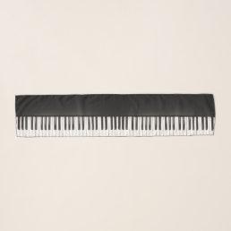 Black Piano Scarf
