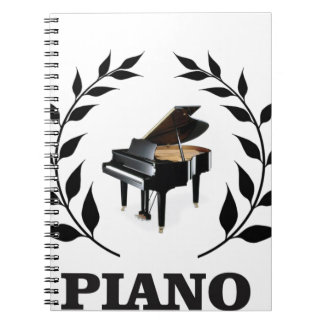 black piano stem notebook