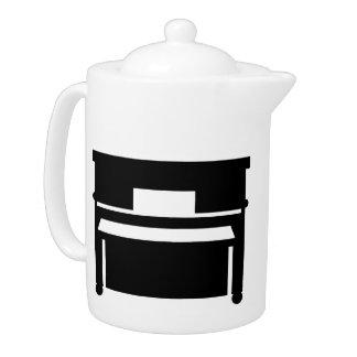 Black piano teapot