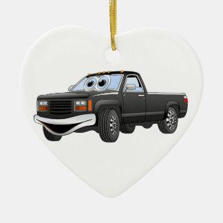 Black Pick Up Truck Cartoon Christmas Ornaments
