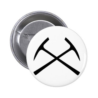 black pickax crossed buttons