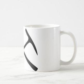 black pickax crossed coffee mug