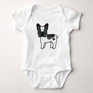 9fc72b8bc Black Piebald Cartoon French Bulldog Baby Bodysuit