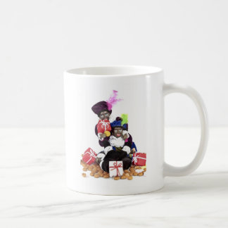 Black Piet with gingernuts presents and sweets Coffee Mug