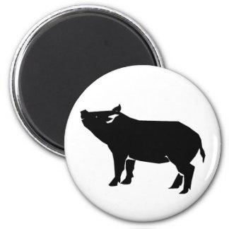 Black Pig 2 Inch Round Magnet