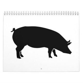 Black pig calendar