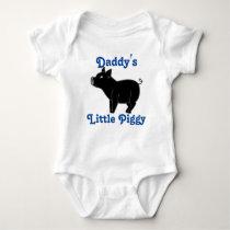Black Pig Custom Kids Shirt - Blue Text