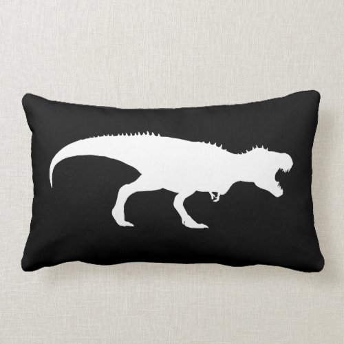 Black Pillow with T-Rex Silhouette