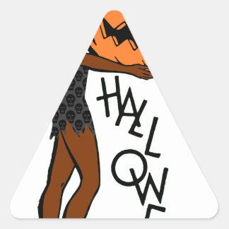 black pin up halloween triangle sticker