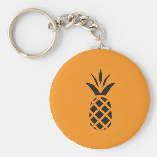 Black Pine Apple in Brown Keychain