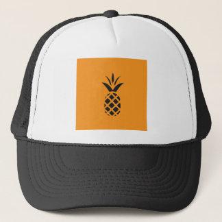 Black Pine Apple in Brown Trucker Hat