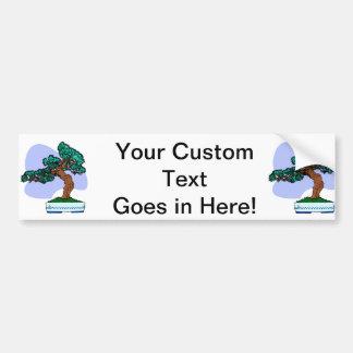Black Pine Bonsai Graphic Image Bumper Sticker