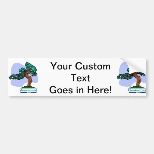 Black Pine Bonsai Graphic Image Car Bumper Sticker