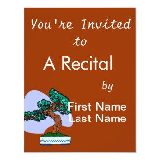 Black Pine Bonsai Graphic Image Invites