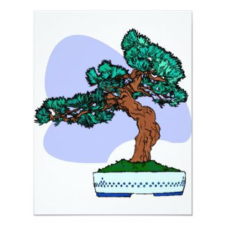 Black Pine Bonsai Graphic Image Custom Invites